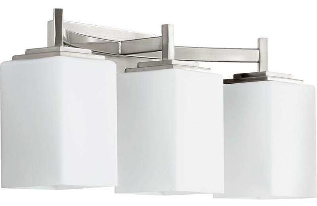 Delta Bathroom Lighting quorum lighting 5084-3 delta bathroom light - contemporary