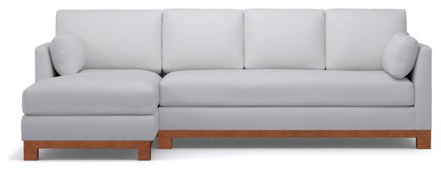 Groovy Avalon 2 Piece Sectional Sofa Stone Chaise On Left Machost Co Dining Chair Design Ideas Machostcouk
