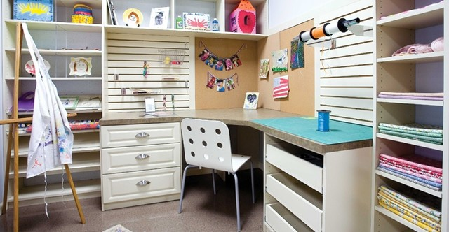 Craft rooms sewing rooms by closet factory for Design a craft room