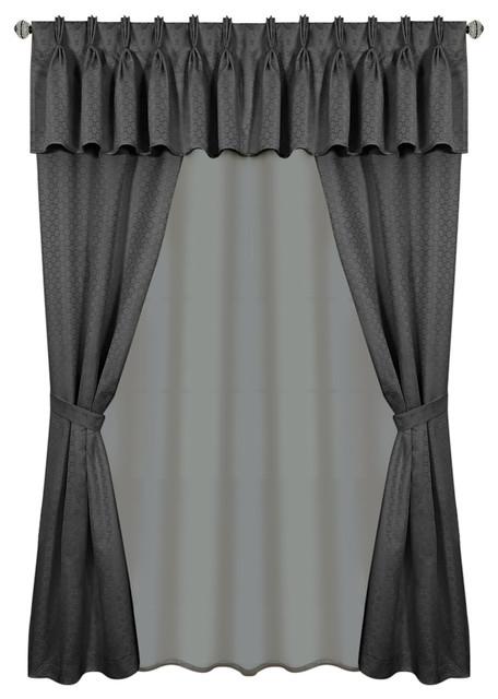 Designer Roman Shades Plain Fold, 77wx55h, Platinum Grey