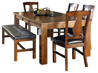 Steve Silver Lakewood 6-Piece Dining Room Set with Leaf - Traditional - Dining Sets - by Beyond ...