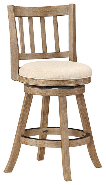 Dune Sheldon Counter Stool Driftwood Gray And Ivory