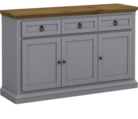 Annabelle Buffet Cabinet Gray And Cottage Oak