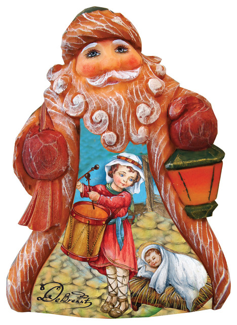 Hand Painted Drummer Boy Tiny Tale Santa Figurine.