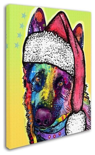 Dean Russo German Shepherd Christmas Canvas Art