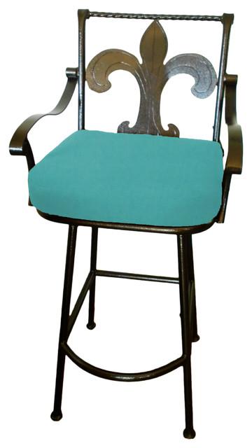 Fleur de lis Grande Swivel Bar stool Aruba Counter Height