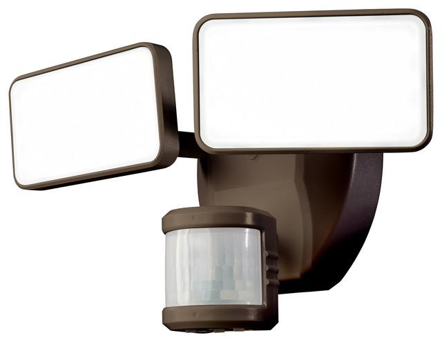 Heathco 180 Degree Bronze Led Motion Security Light.