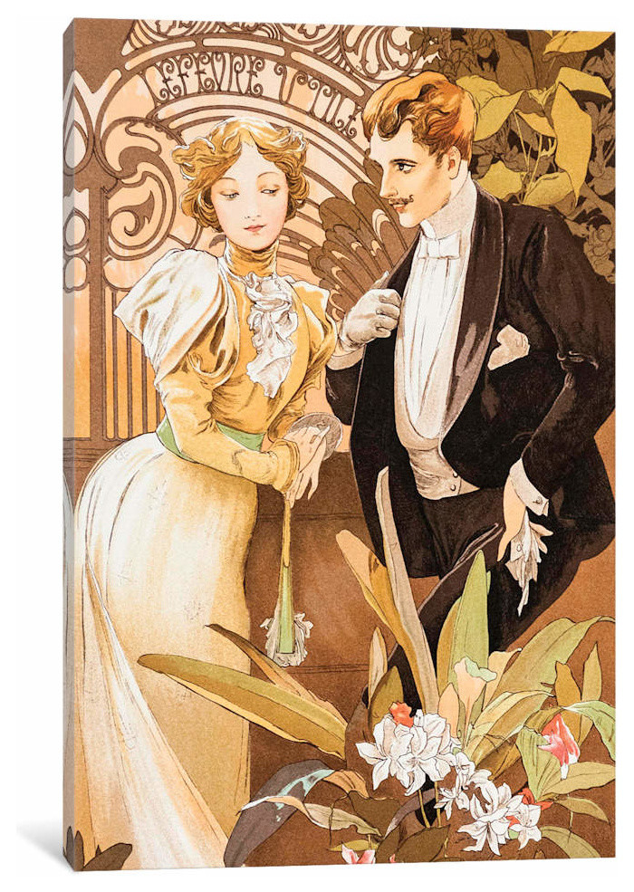 Flirt By Alphonse Mucha Canvas Print Traditional Prints And Posters By Icanvas