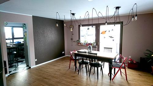 sichtschutz vorh nge im esszimmer. Black Bedroom Furniture Sets. Home Design Ideas
