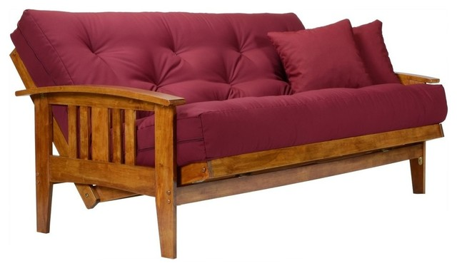 Wood Futon Frame Strong Sy Support Queen