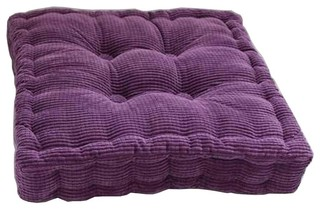 Purple, Square Seat Cushion Floor Pillow Thickened Chair Pad Tatami