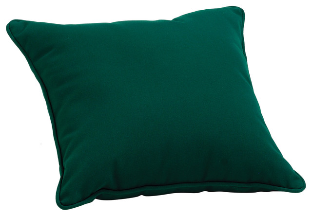 Sunbrella Throw Pillow, Hunter Green