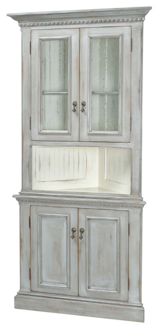 Regency Corner Cabinet Traditional China Cabinets And Hutches