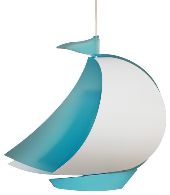 Boat Pendant Light, Blue