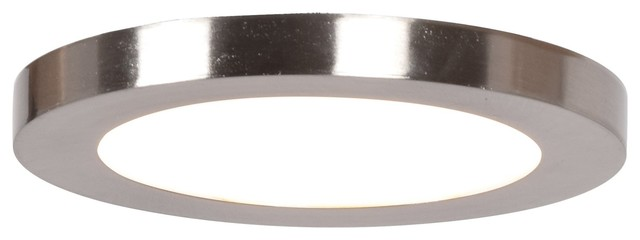 Access Lighting Disc Small Led Round Flush Mount, Bronze.