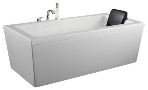 """60""""x32"""" Neptune Alcove Ametys Bathtub, Soaker."""