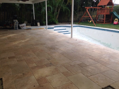 Travertine Patio Fill Holes Or Not?