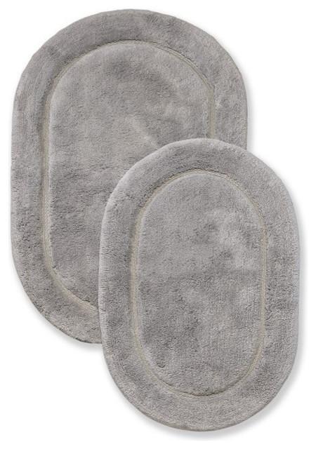 Oval Shape Plush Rug Gy Non Slip Absorbent Bath Bathroom
