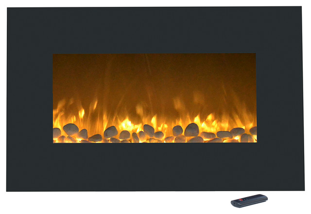 """36"""" Electric Color-Changing Fireplace With Wall Mount & Floor Stand By Northwest."""