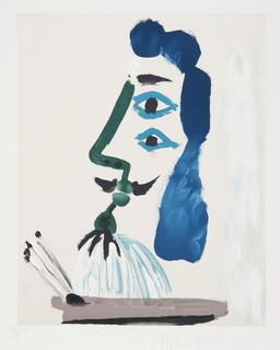 Pablo Picasso, Le Peintre et sa Palette, J-146, Lithograph - Contemporary - Fine Art Prints - by RoGallery