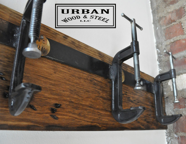 C Clamp Coat Rack Industrial Wall Hooks New York