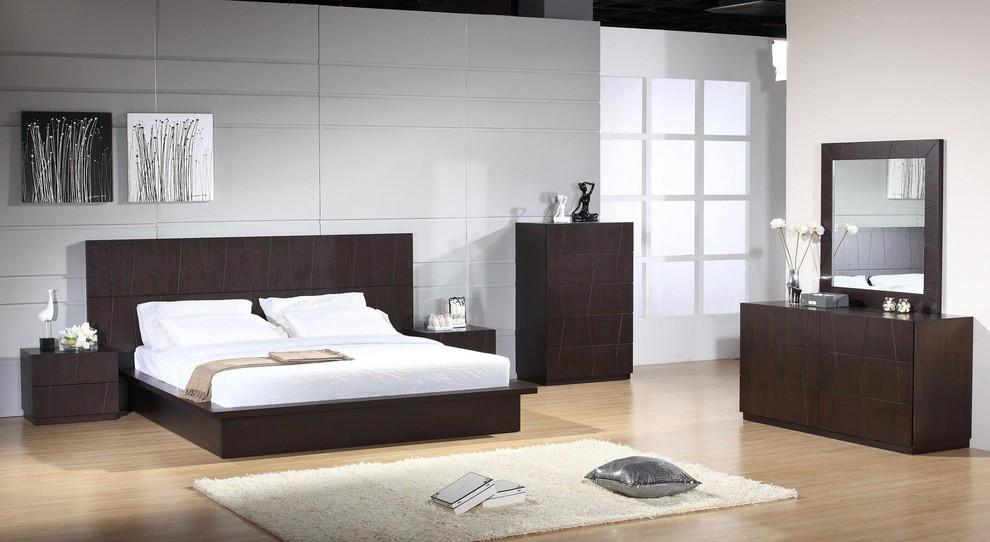 Anchor Modern Bedroom Set In Wenge, Modern Contemporary Bedroom Furniture Uk