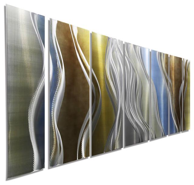 Cascade By Jon Allen - Modern Metal Abstract Wall Art.