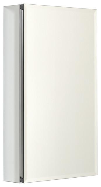 Zenith Aluminum Beveled Mirror Medicine Cabinet.