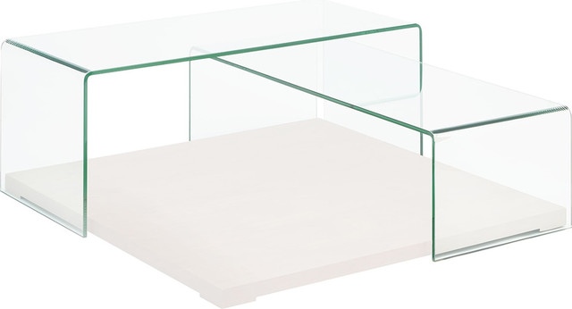 Kinetic High Gloss White Lacquer Coffee Table By Casabianca Home