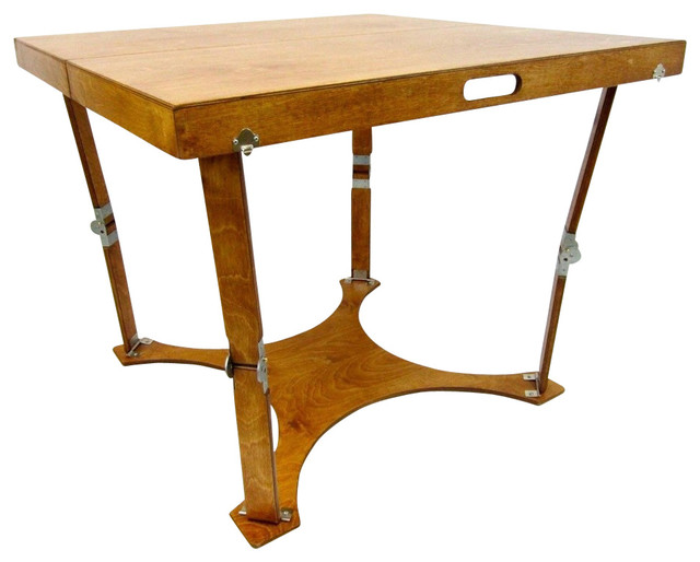 Spiderlegs Hand-Crafted Puzzle Folding Table, Warm Oak.