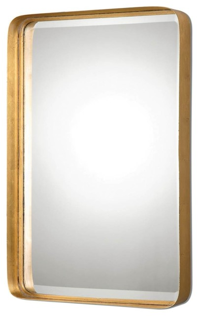 "Contemporary Wall Mirror crofton metal framed mirror, 20""x30""x3"" - contemporary - wall"