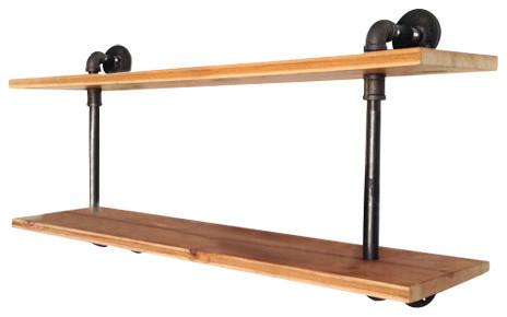 Waldorf Reclaimed Wood Wall Shelf - Industrial - Display ...