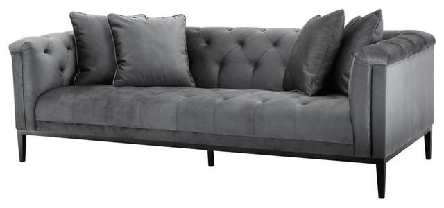 Granite Gray Sofa, Eichholtz Cesare, Gray, 91\