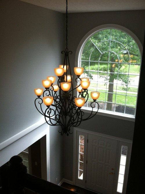 Lighting for 2 story foyer for 2 story foyer chandelier