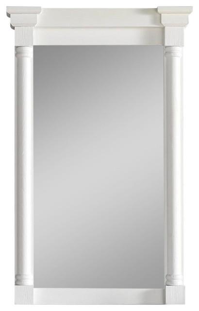 Savannah providence mirror cottage white traditional bathroom mirrors by james martin for Savannah bathroom accessories