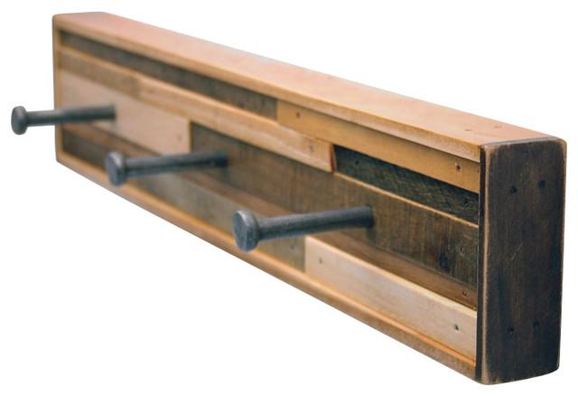 5 Hook Coat Rack Recycled Wood Kubala Style Industrial