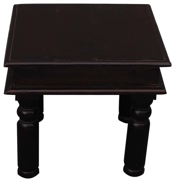 Charming Bondsville Rustic Solid Wood Square End Table