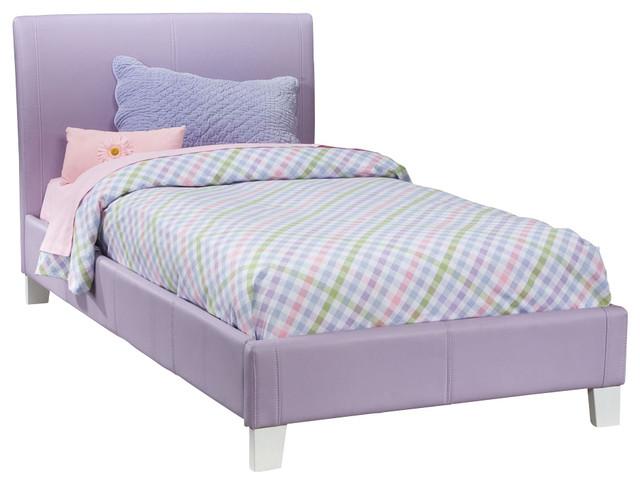 Standard Furniture Fantasia Upholstered Platform Bed In Lavender - Full.