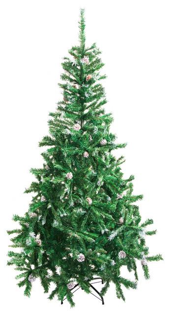 aleko ct71h11 artificial christmas tree 59 green contemporary christmas trees