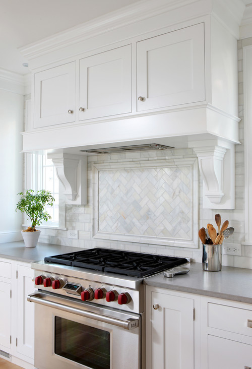 Backsplash Basketweave Or Herringbone Over Range