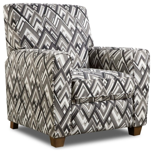 Phenomenal Brighton Chic Chevron Recliner Gray Gmtry Best Dining Table And Chair Ideas Images Gmtryco