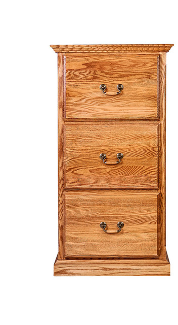 ... Forest Designs Traditional Three Drawer File - Filing Cabinets | Houzz