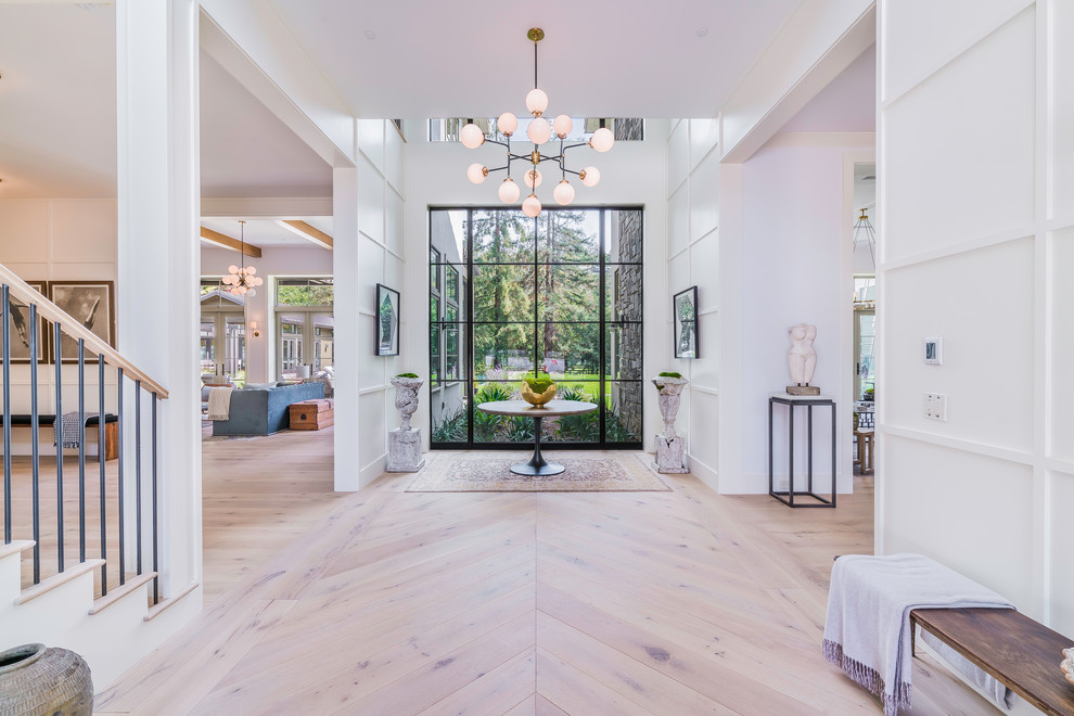 Inspiration for a transitional home design remodel in Los Angeles
