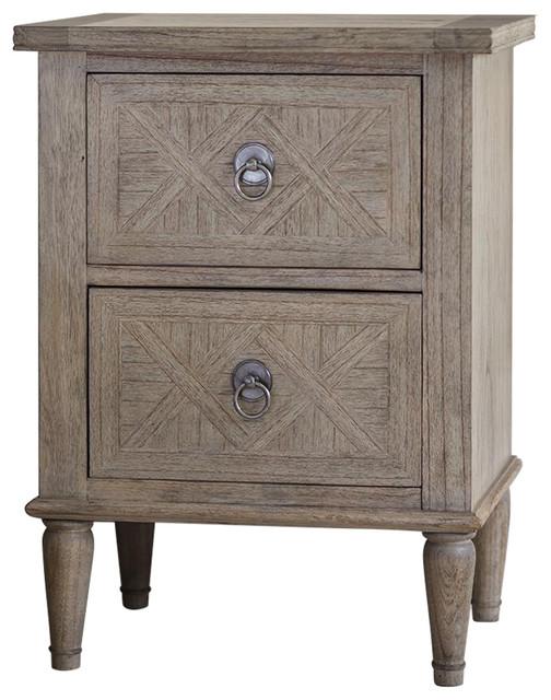 Mustique 2-Drawer Bedside Table
