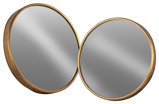 Gold Metal Wall Mirror: Urban Trends Collection Metal Mirror
