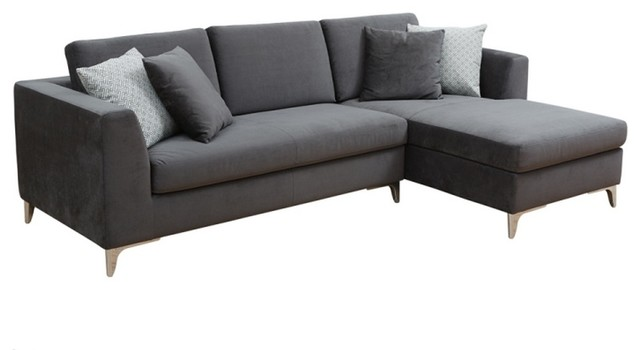 Comfortable Sofa Chaise Fabric modern-sectional-sofas  sc 1 st  Houzz : fabric chaise sofa - Sectionals, Sofas & Couches