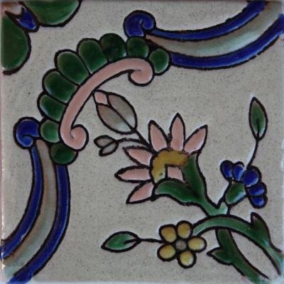 4.2x4.2 9 Pcs Alhambra Mayorca 1 Talavera Mexican Tile.