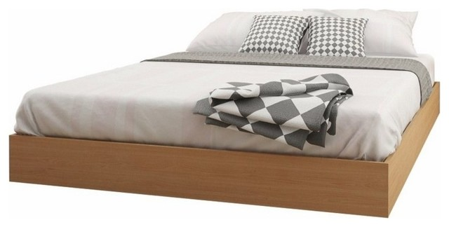 Rosales Platform Bed, Natural Maple, Queen.