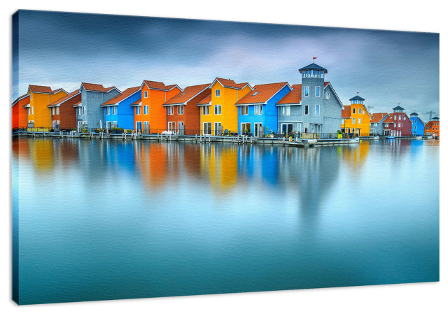 Blue Morning At Waters Edge Groningen Netherlands Fine Art Canvas Prints Beach Style Fine Art Prints By Pi Photography Wall Art Fine Art