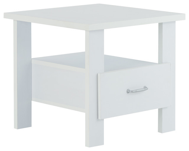 Delano Nightstand White by 1PerfectChoice